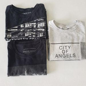 Mixed Bundle Tees NYC, CALI. Kenneth Cole Small